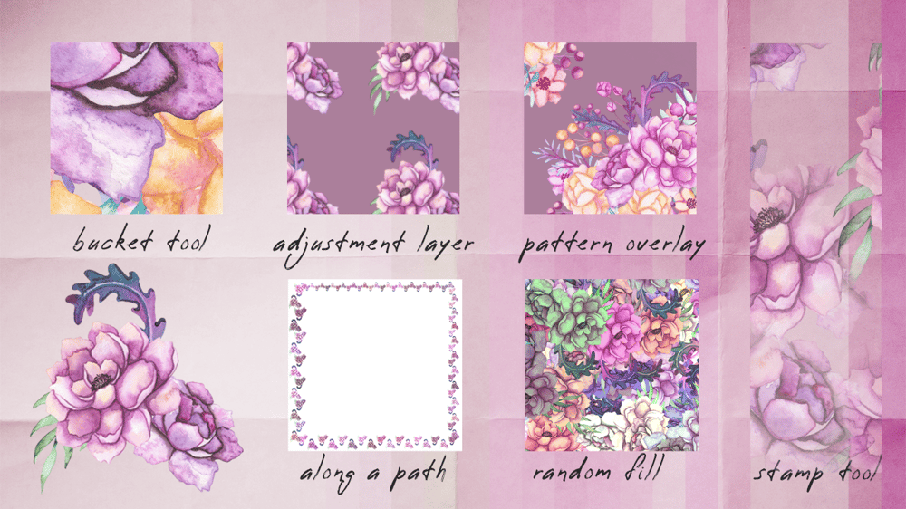 Flower patterns and stripes - image 1 - student project