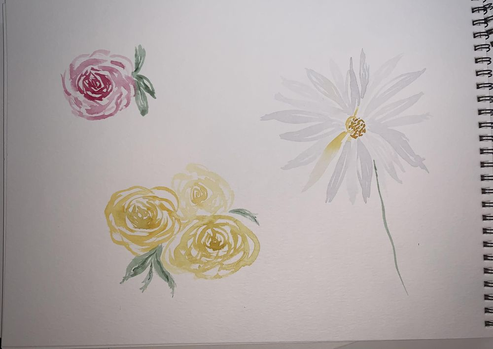 """Practicing my """"Loose Florals"""" - image 1 - student project"""