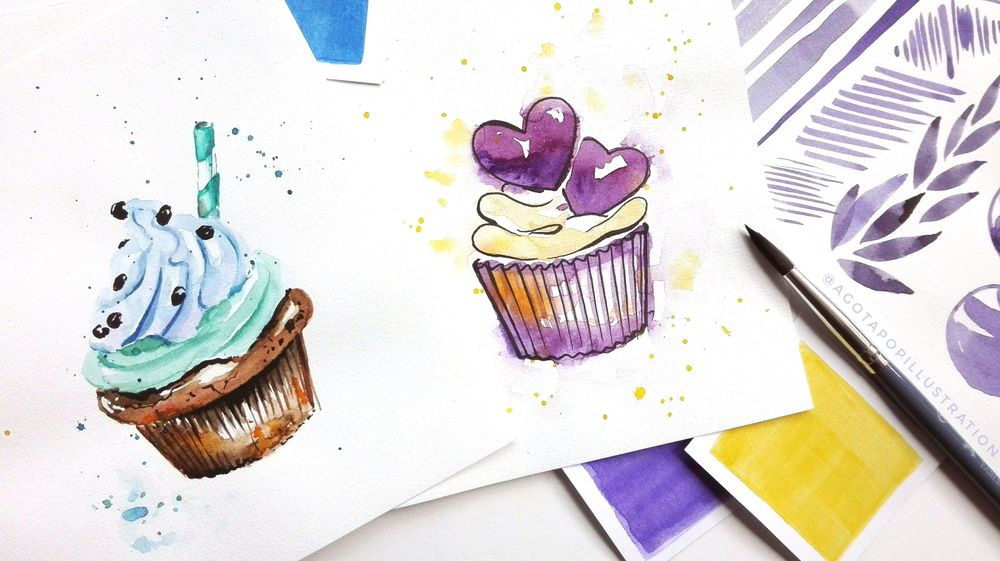 Watercolour sweets. - image 4 - student project