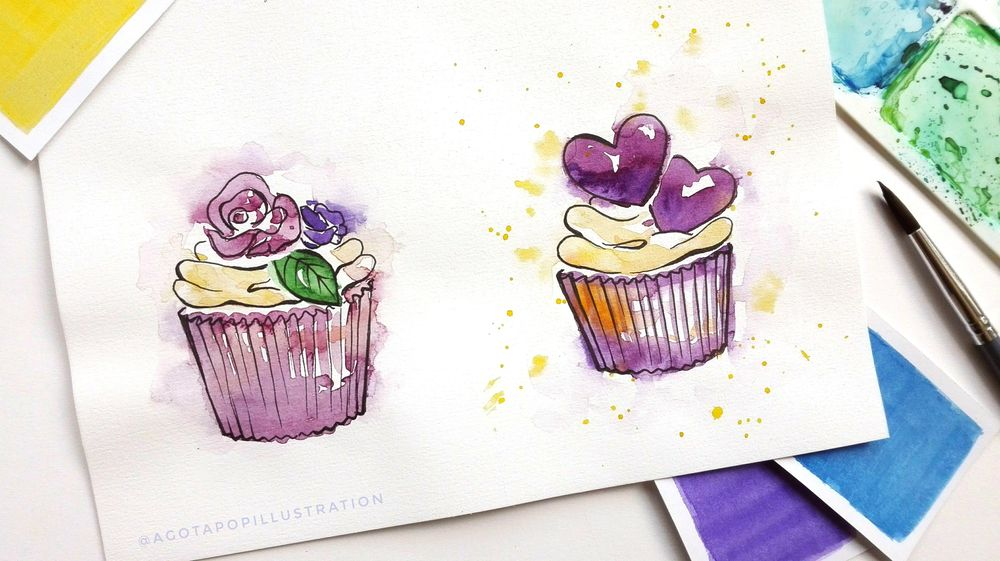 Watercolour sweets. - image 6 - student project