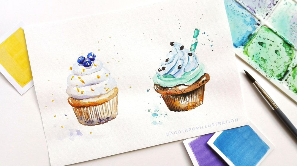 Watercolour sweets. - image 5 - student project