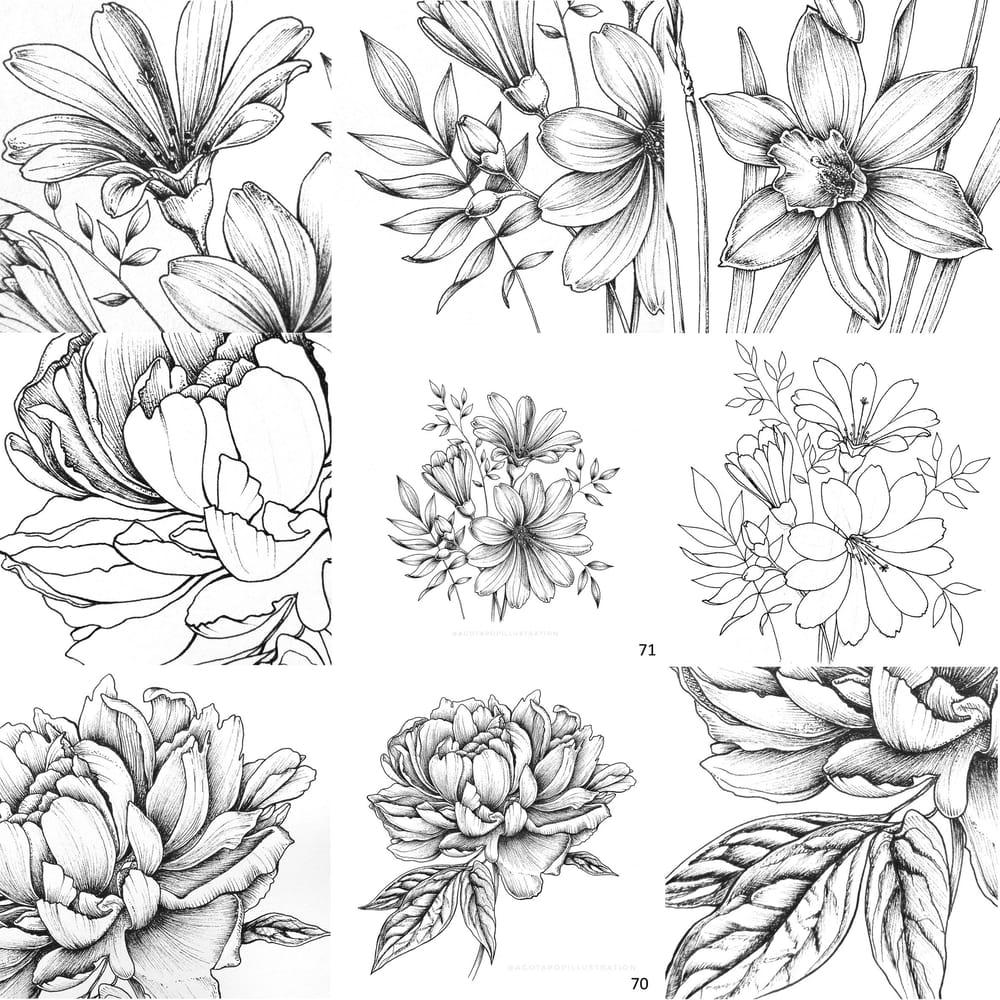 100 day of inking - Botanical illustrations - image 10 - student project