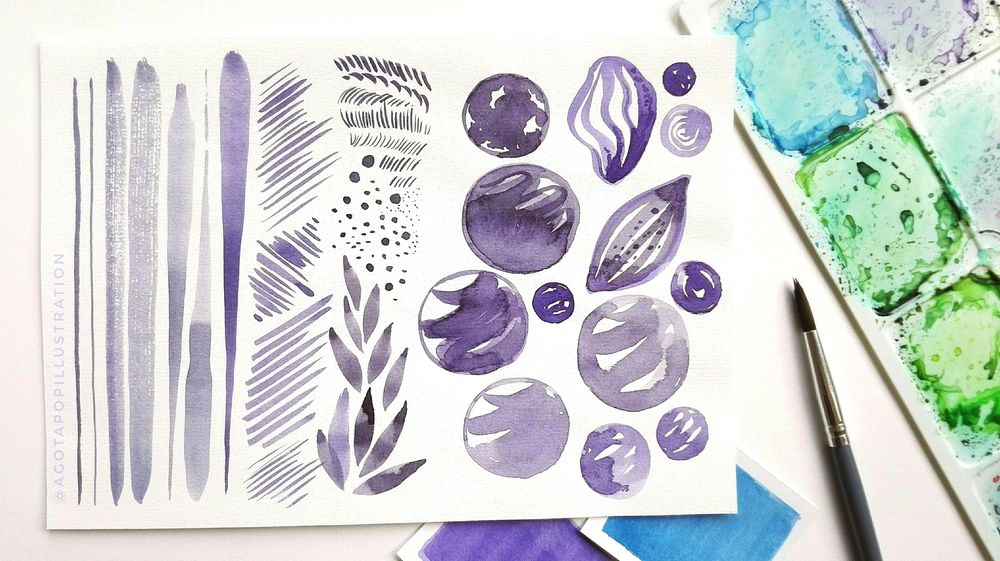 Watercolour sweets. - image 1 - student project