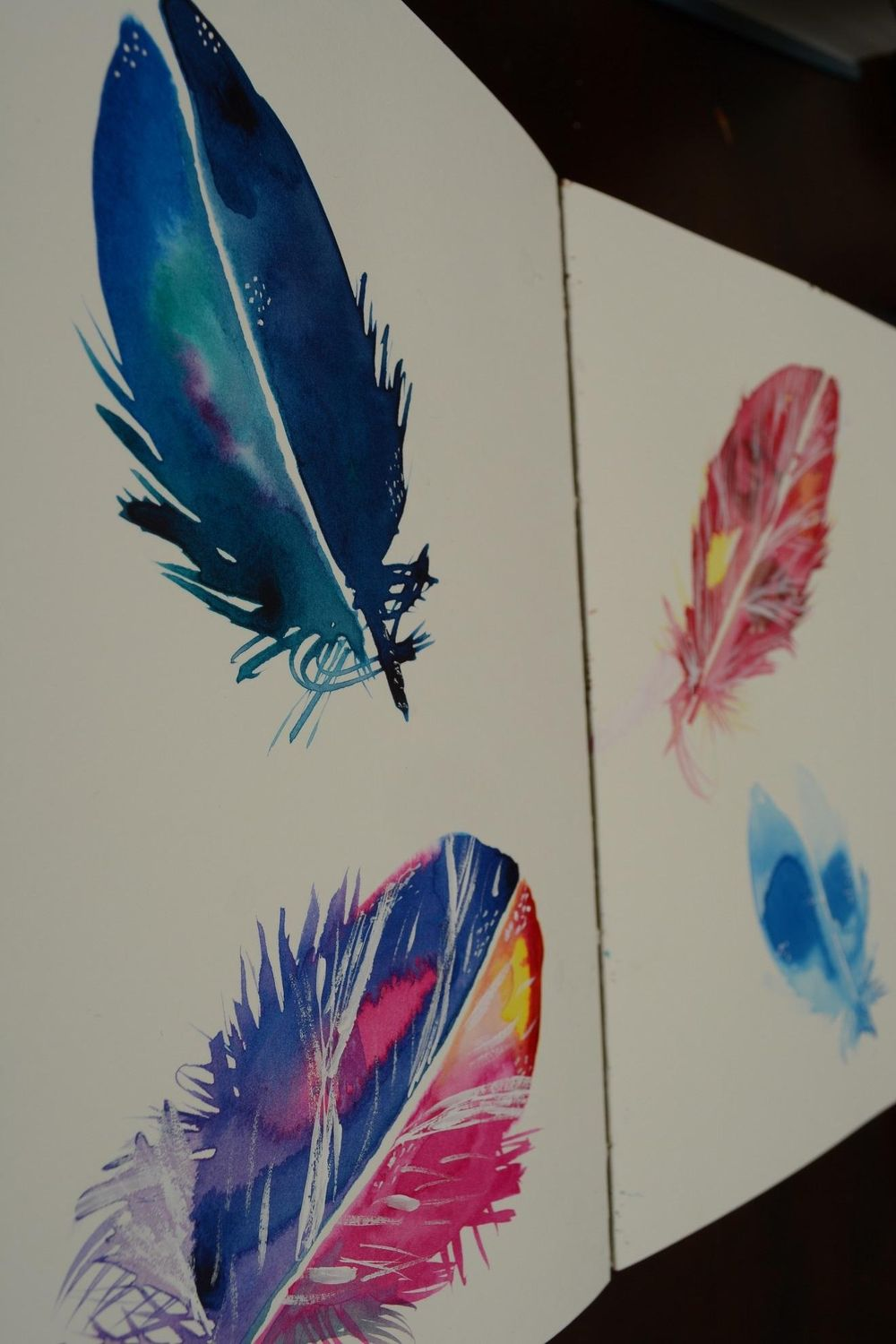 Loosely Sketched Feathers - image 1 - student project