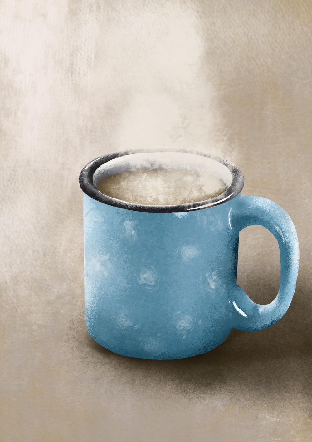 Blue mug - image 1 - student project