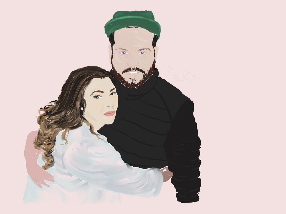Little Daughter and Husband-to-Be Portrait in Progress - image 1 - student project