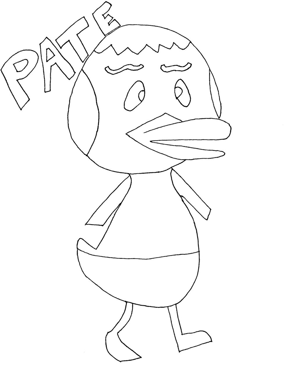 Animal Crossing Villager: Pate the Peppy Duck - image 2 - student project