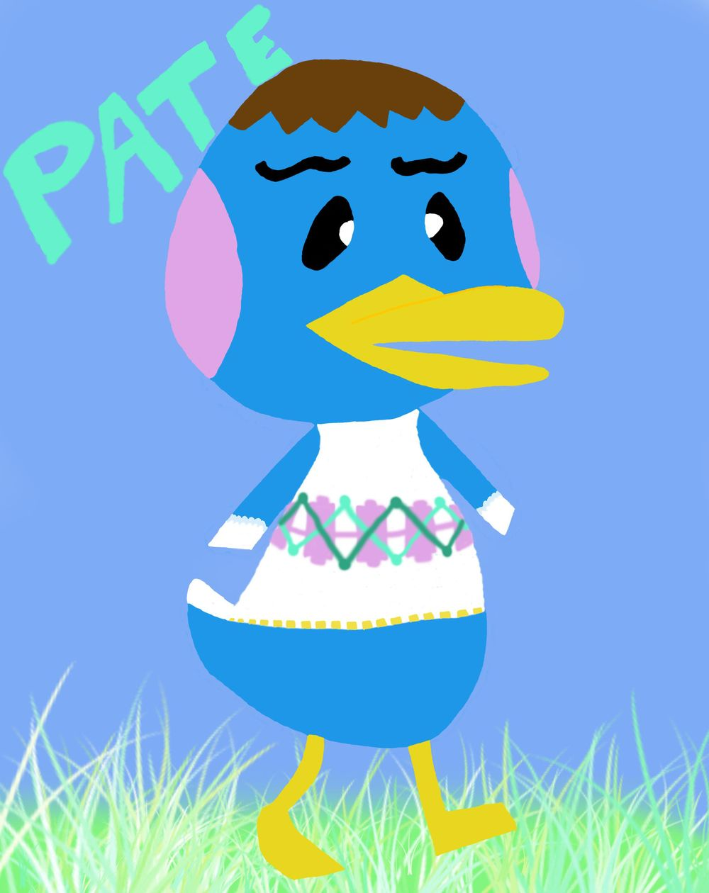 Animal Crossing Villager: Pate the Peppy Duck - image 3 - student project