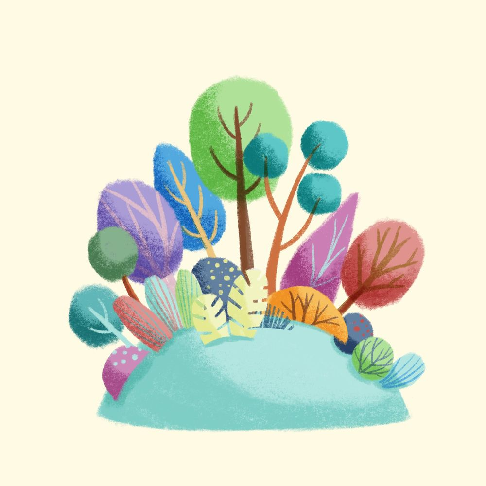 Soft greenery with Procreate - image 1 - student project