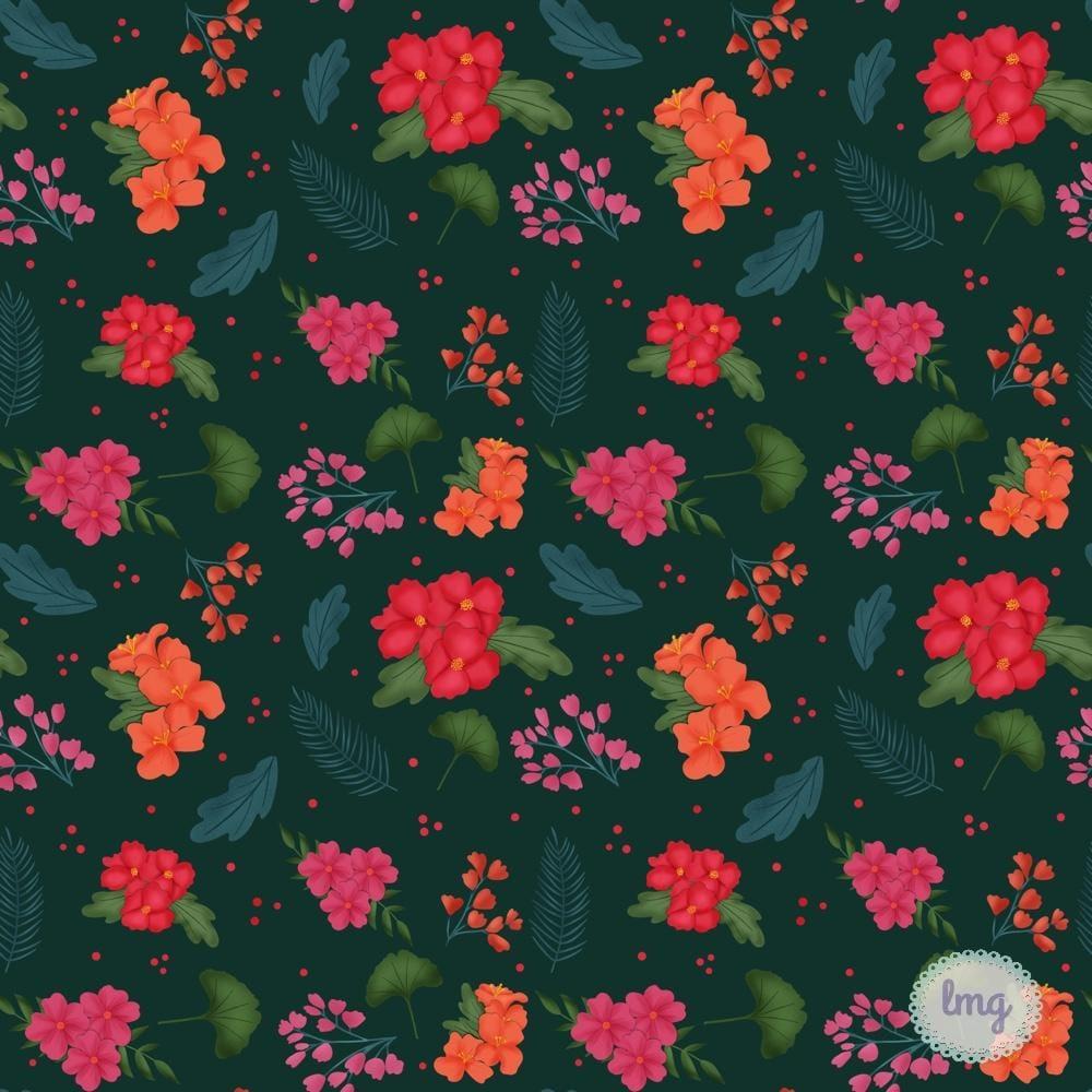 Vintage Dark Florals - image 1 - student project