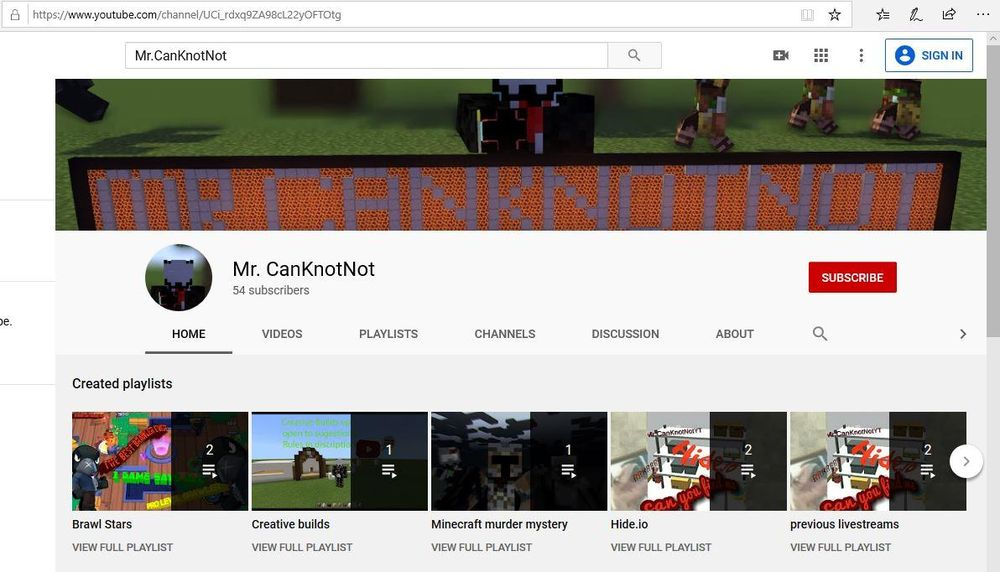 My youtube channel - image 1 - student project