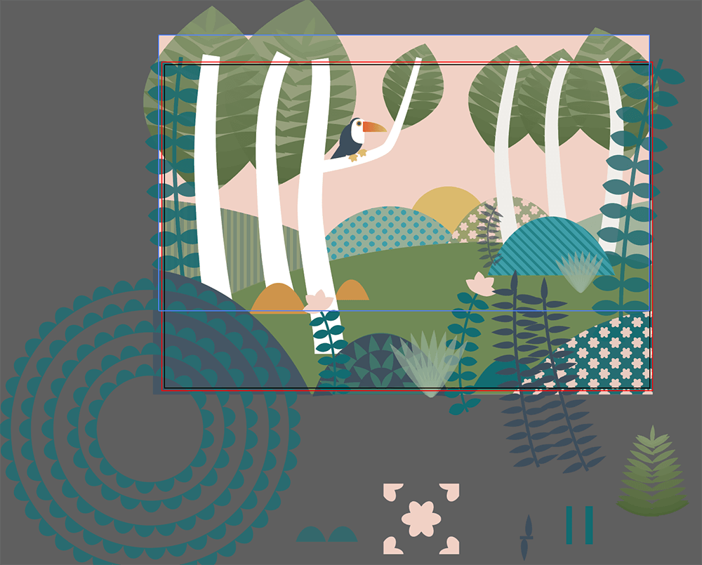 Patterned Jungle Scene - image 1 - student project