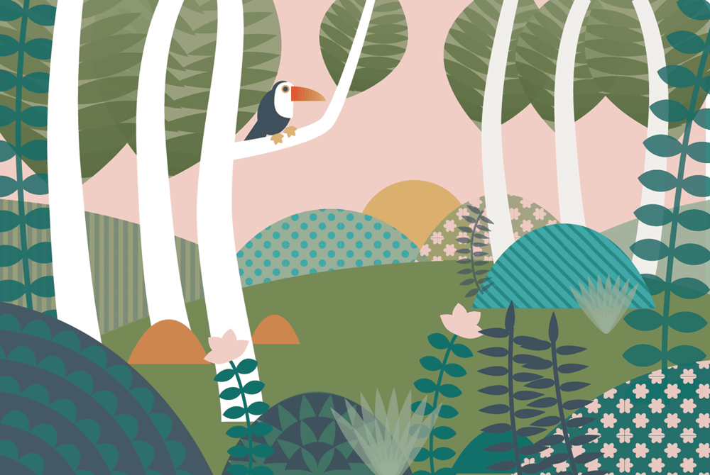 Patterned Jungle Scene - image 2 - student project