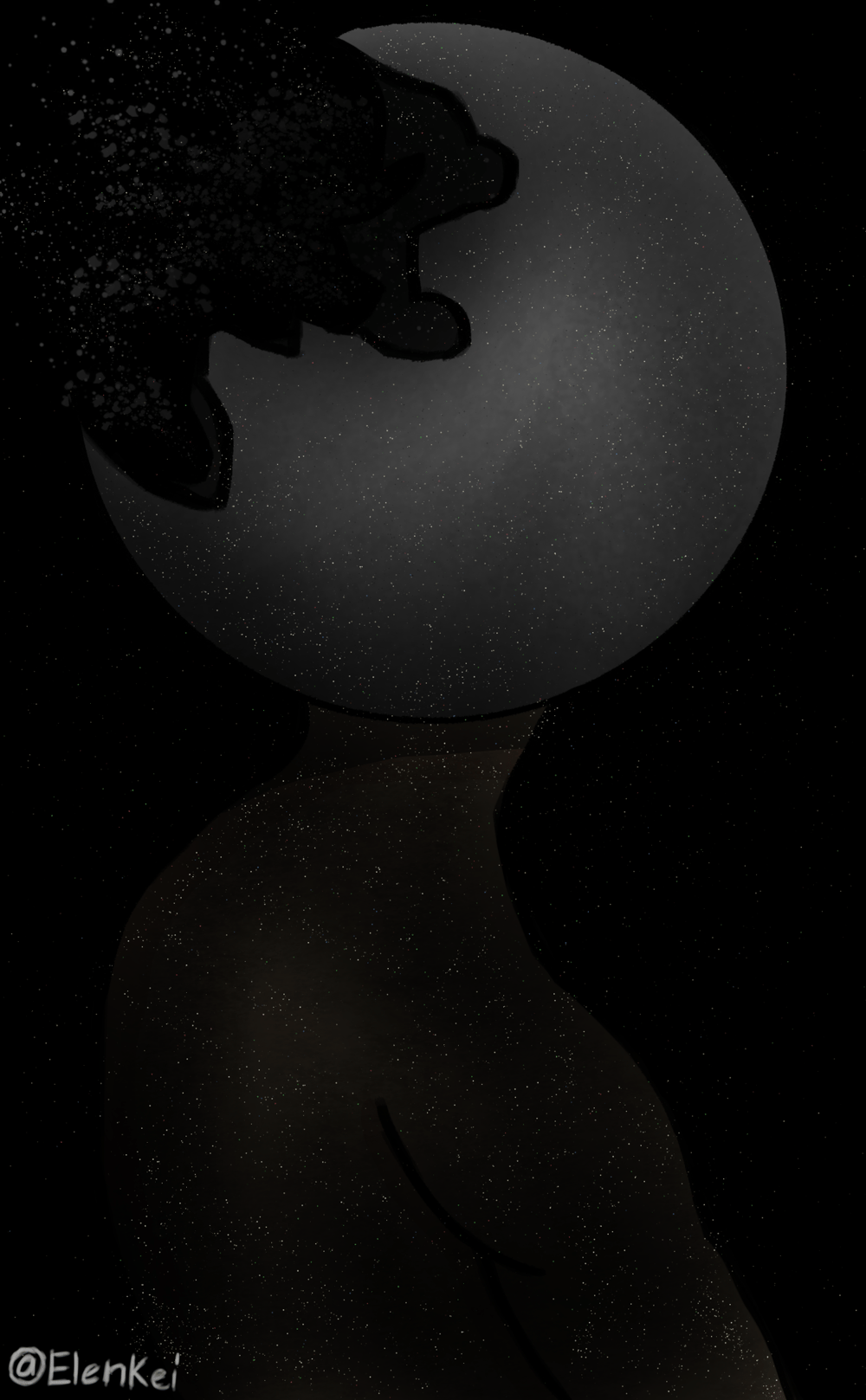 Lonely Moon Guy - image 1 - student project