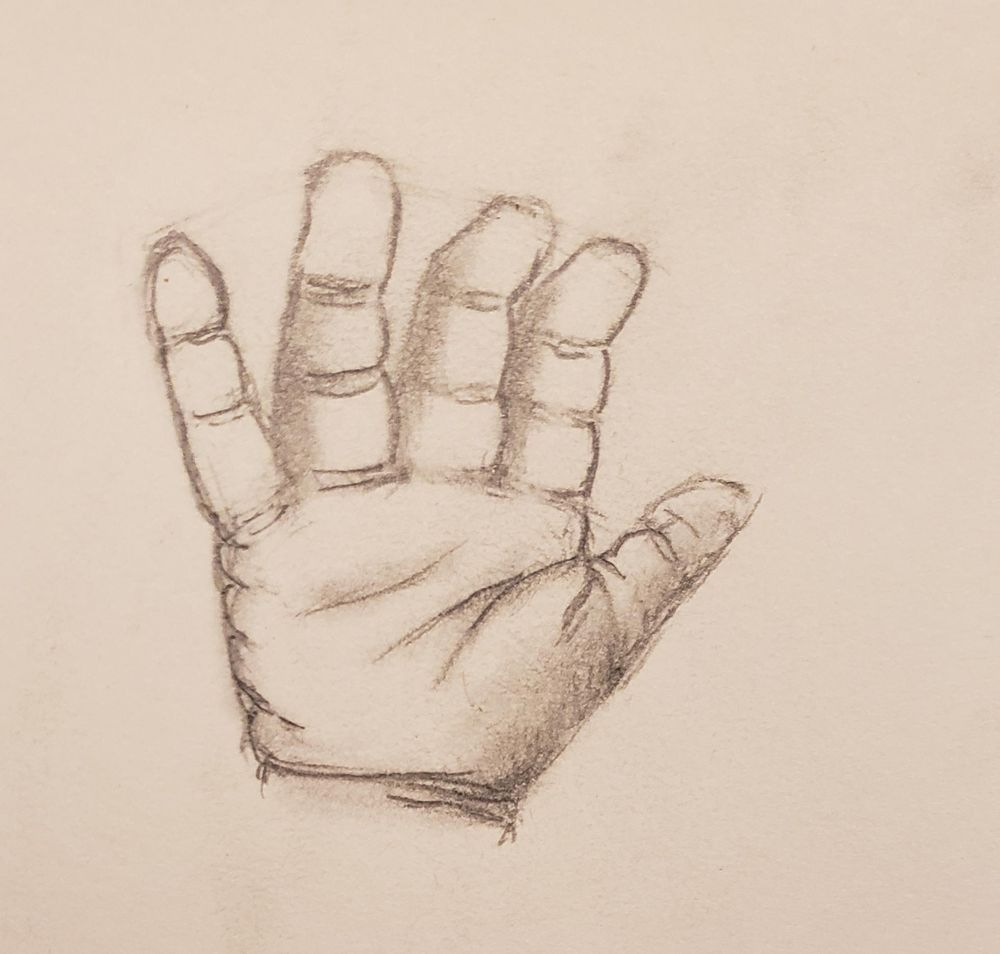 Baby Hand (Sketch) - image 1 - student project