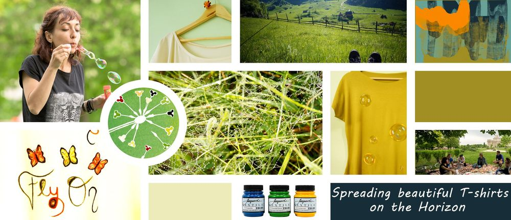 Mood Board for Painted T-shirts - image 1 - student project