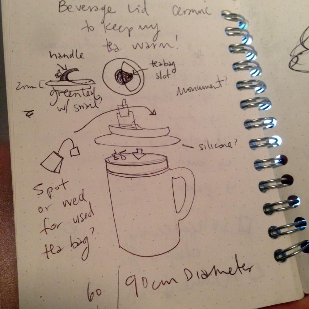 Herbal Tea Mug Lid in Ceramic - image 1 - student project