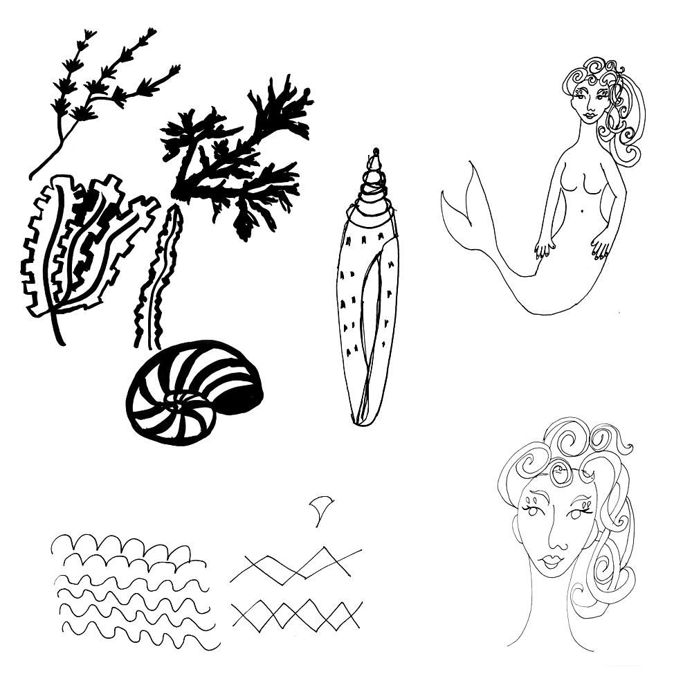 Vintage High Tea, Rockpool, Neptune's Garden - 3 Focal Print Workshop with Bonnie Christine - image 13 - student project