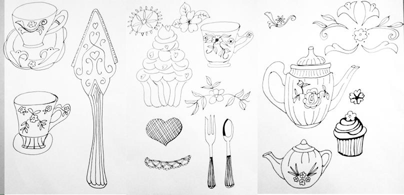 Vintage High Tea, Rockpool, Neptune's Garden - 3 Focal Print Workshop with Bonnie Christine - image 2 - student project