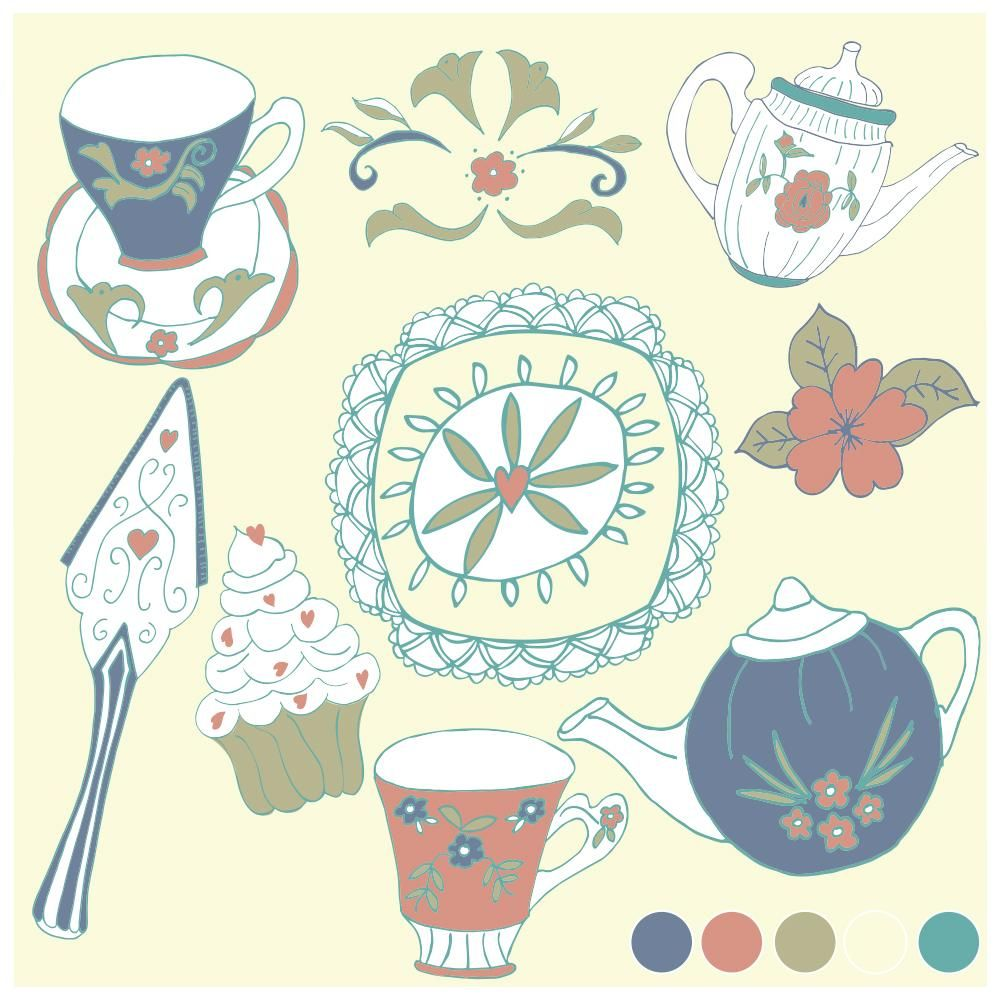 Vintage High Tea, Rockpool, Neptune's Garden - 3 Focal Print Workshop with Bonnie Christine - image 3 - student project