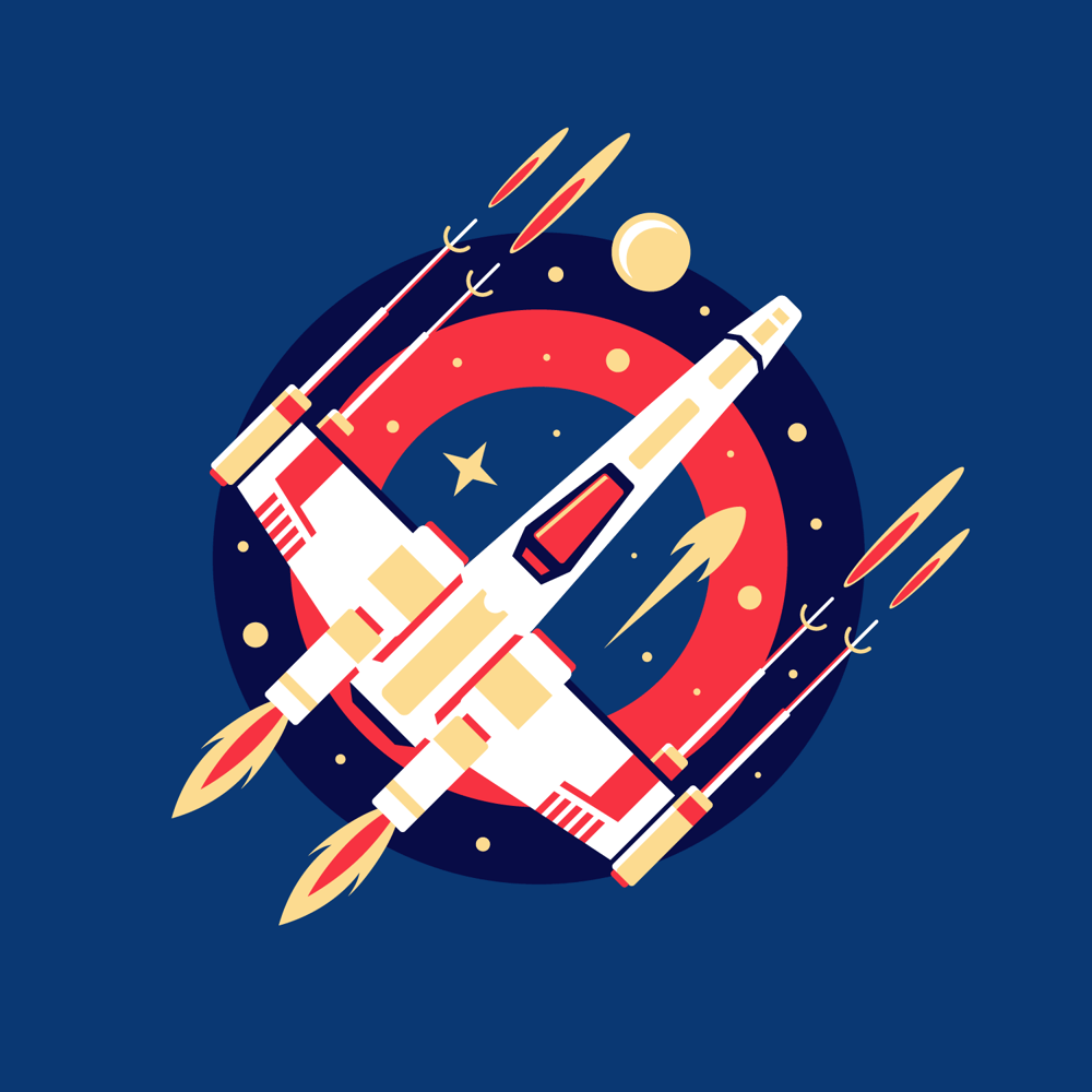 Paper Pop-Up Style X-Wing - image 2 - student project