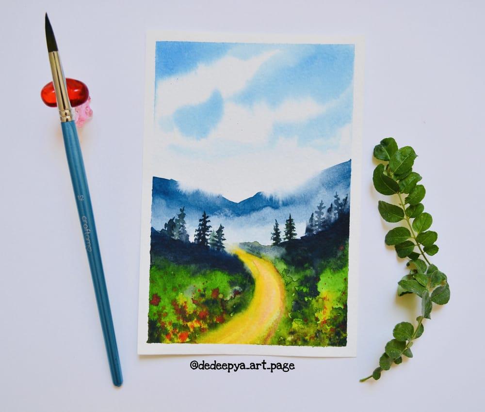 Watercolor landscapes - Dedeepya - image 3 - student project