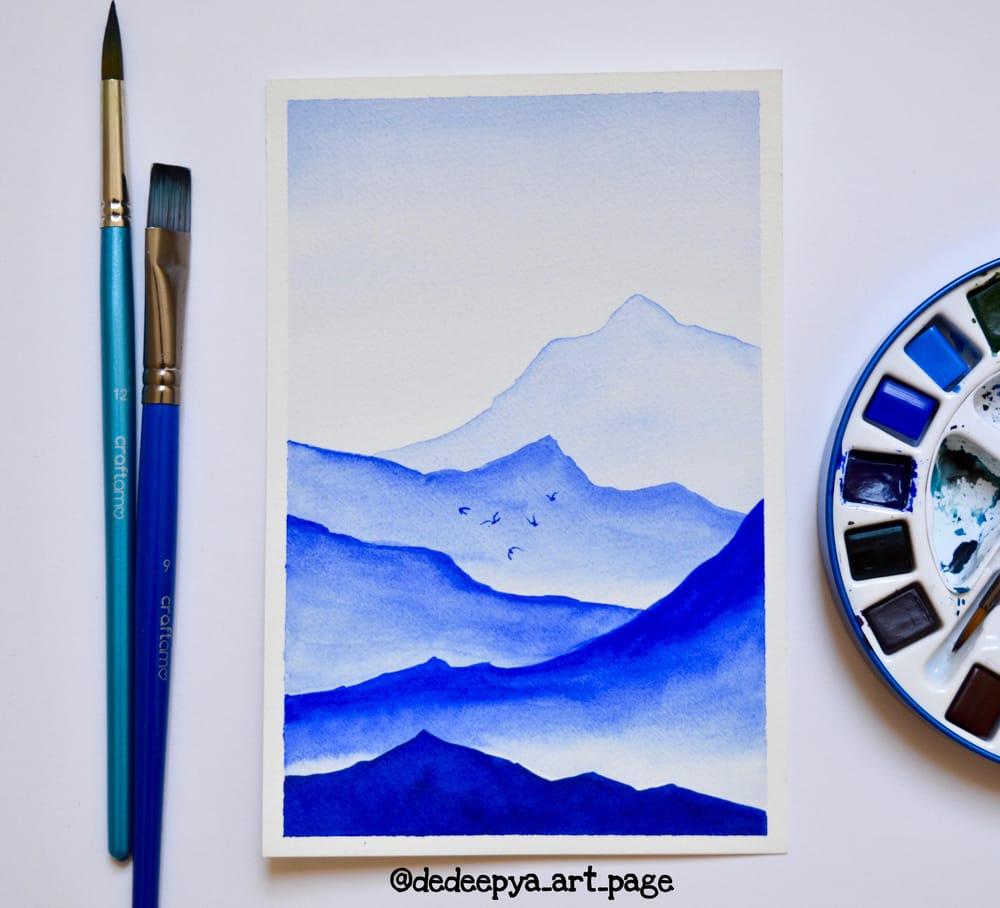 Watercolor landscapes - Dedeepya - image 2 - student project