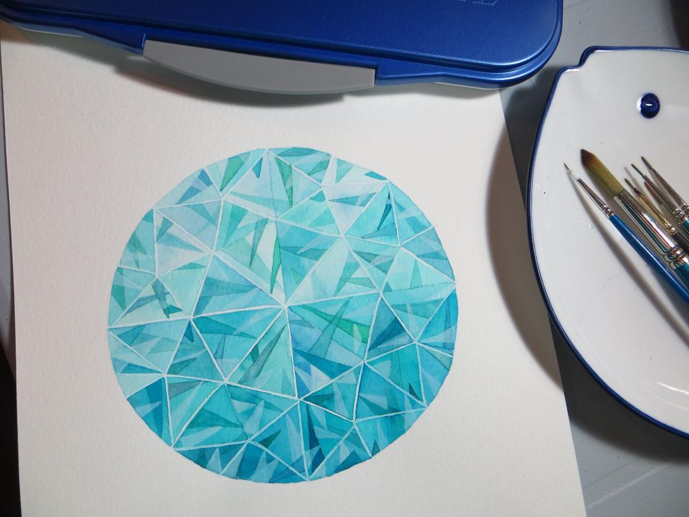 Watercolor Gems & Jewelry - 3rd Update - lots of practice ! - image 2 - student project