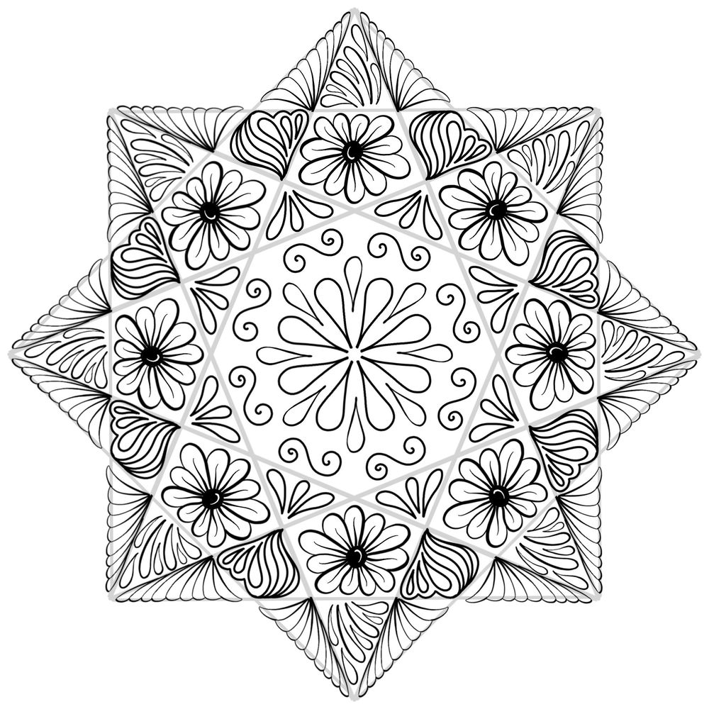 The Two Mandalas as Lineart and Beyond - image 1 - student project
