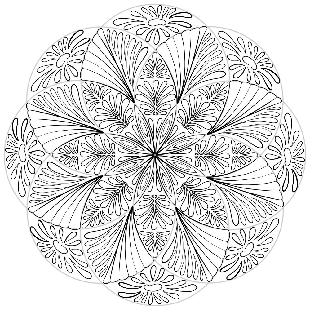 The Two Mandalas as Lineart and Beyond - image 2 - student project