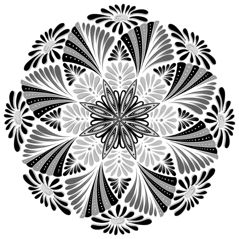 The Two Mandalas as Lineart and Beyond - image 4 - student project