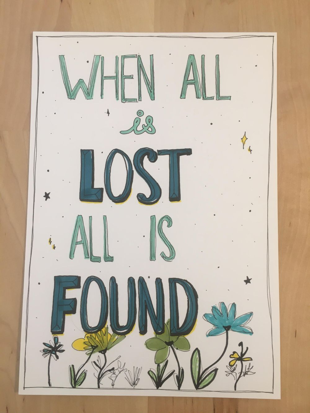 When all is lost, all is found. - image 1 - student project