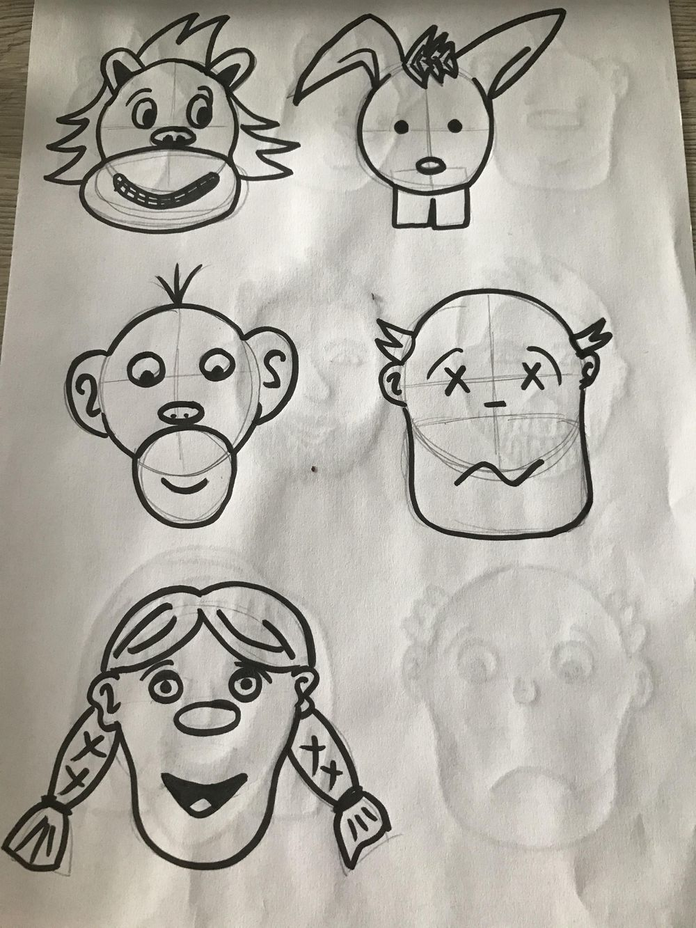 Cartooning, self portraits and stuff - image 4 - student project