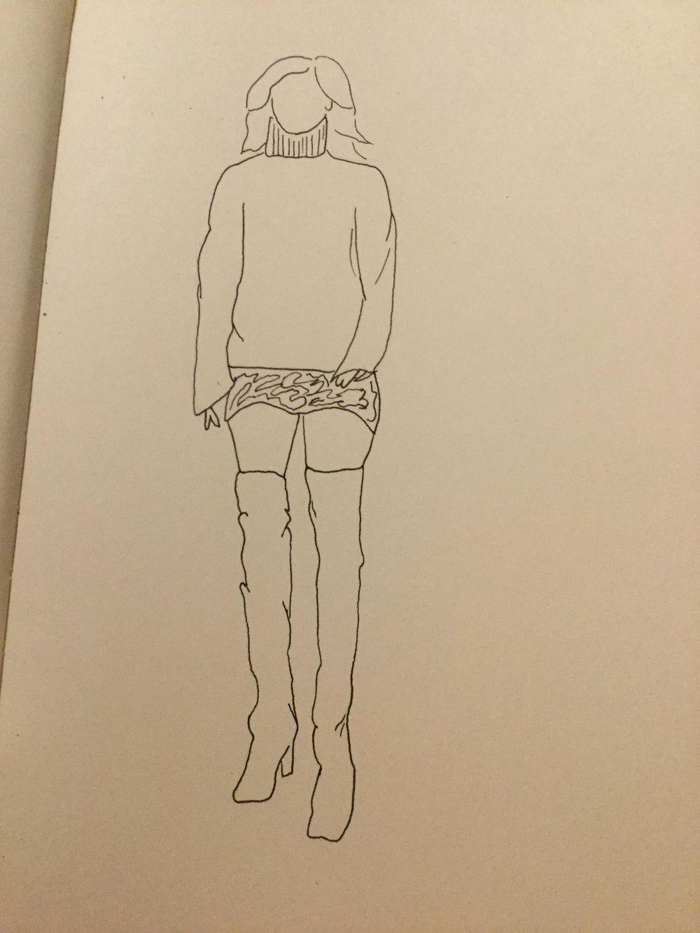 Female figure practice - image 1 - student project