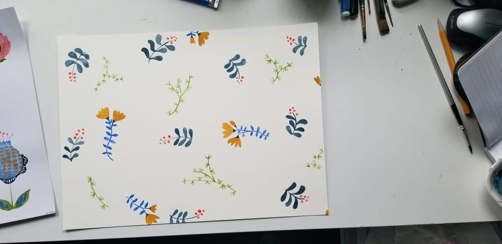 Modern Folk Flowers - image 1 - student project