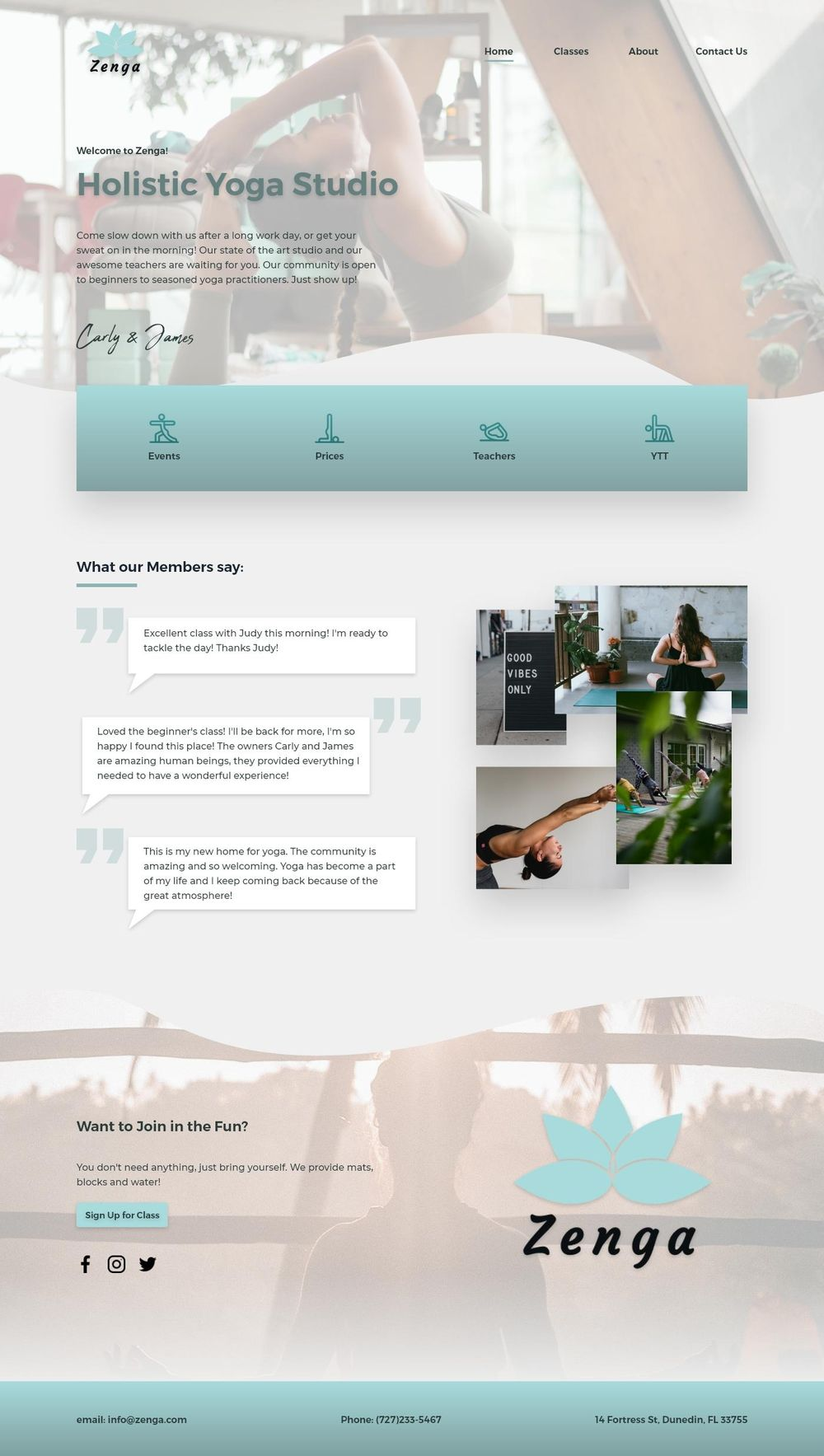 Yoga Studio Website Design - image 1 - student project