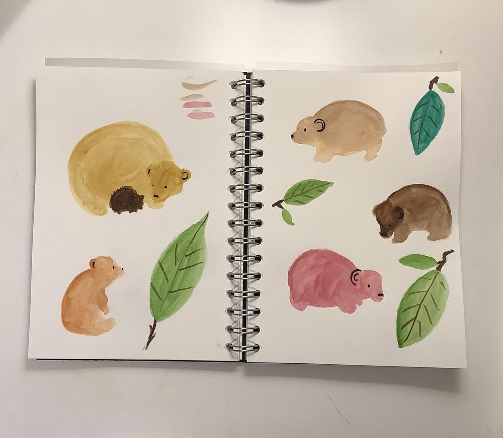 Page of bears - image 1 - student project