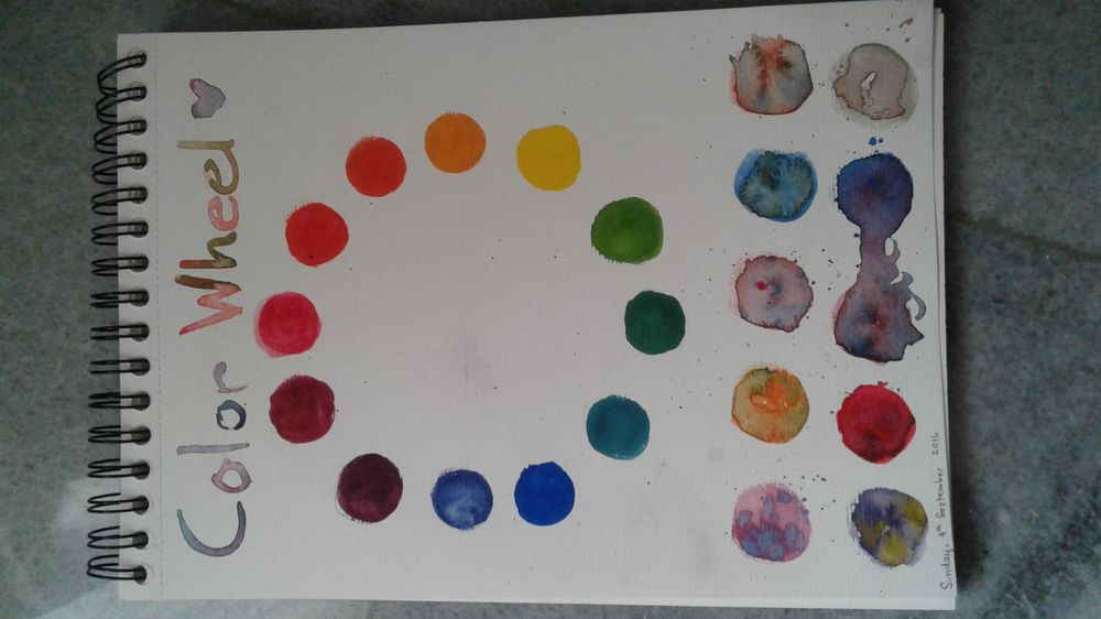 My Color Wheel, Mixing - image 1 - student project