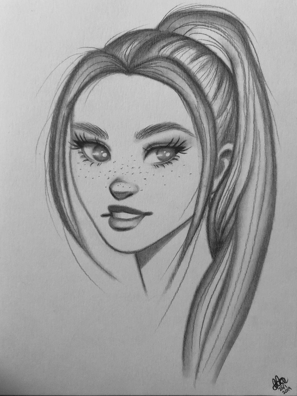Sketching female characters - image 2 - student project