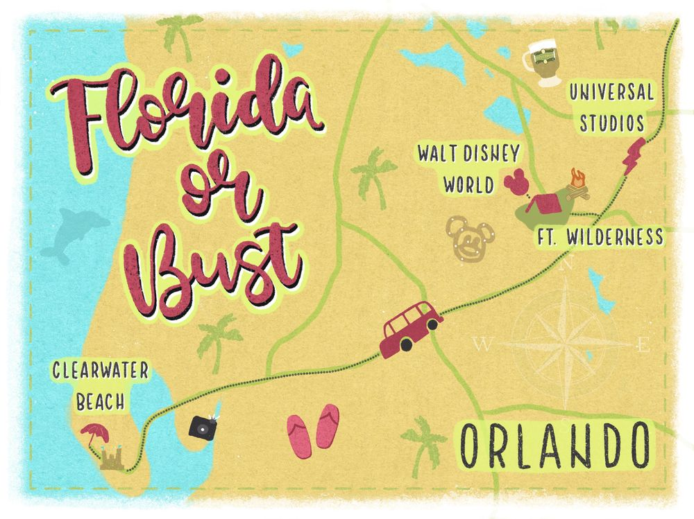 Florida or Bust by MayRoseDesign - image 1 - student project