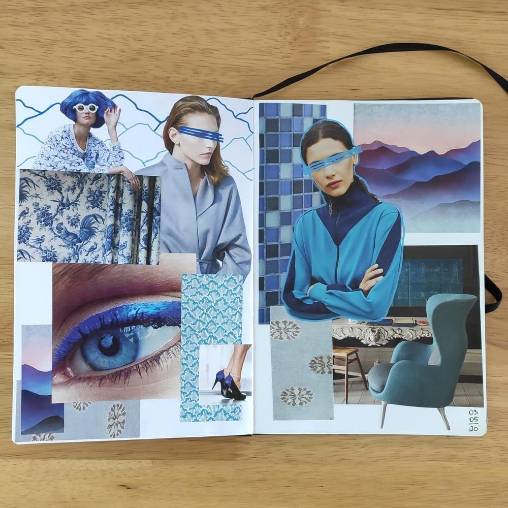 Exploring blue colour - image 1 - student project