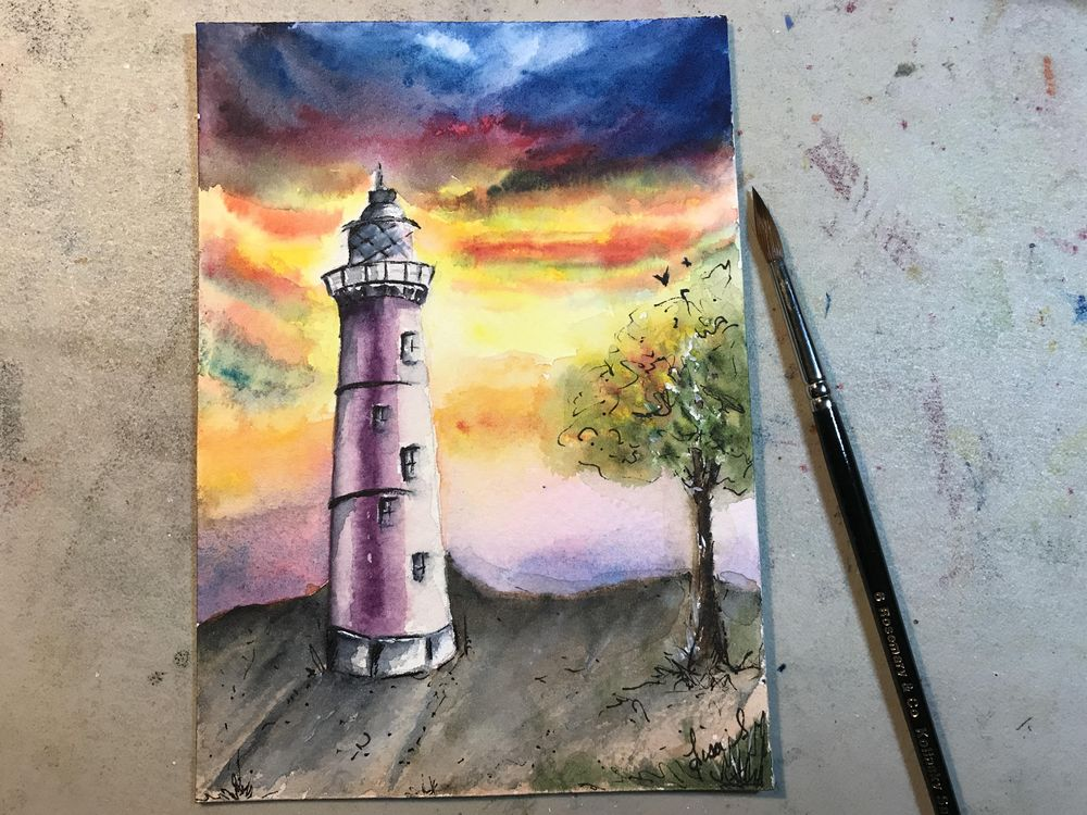 Lighthouse with Dramatic Sky - image 1 - student project