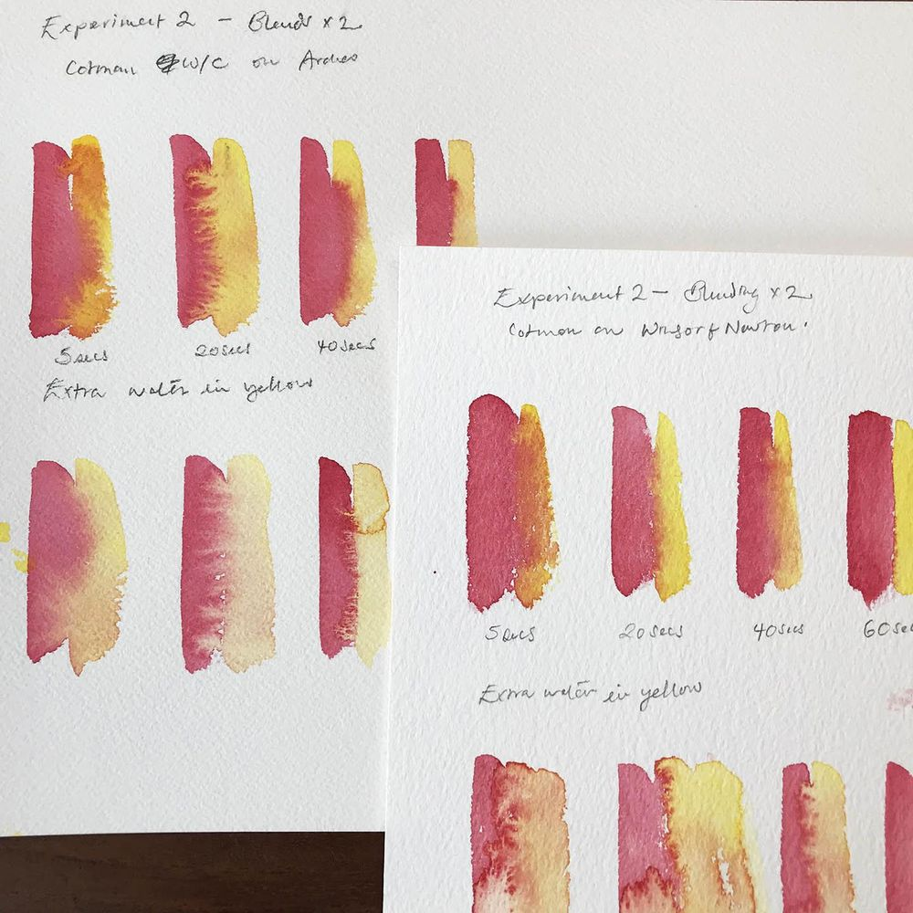 Timed Watercolour Experiments - image 1 - student project