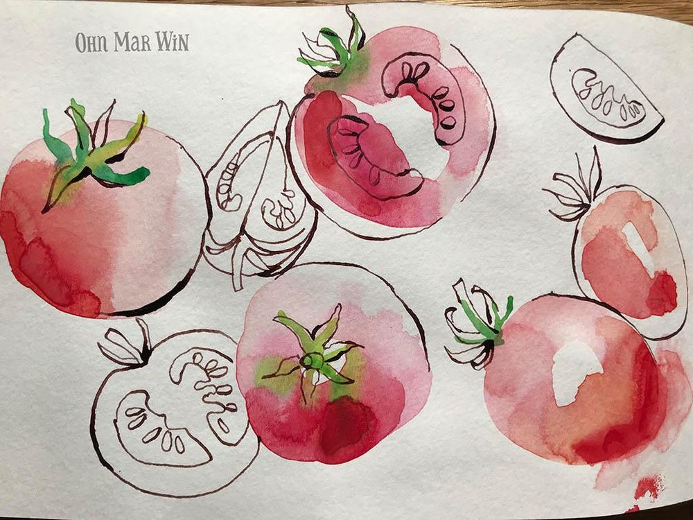 Fruity and flowery ink and watercolour - image 1 - student project