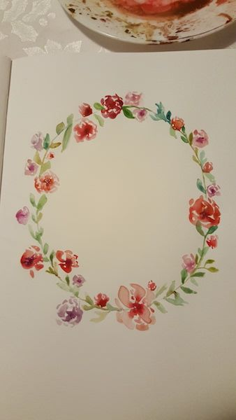 My very first class and very first floral wreath - image 1 - student project