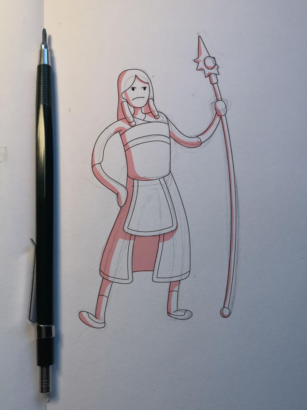 Lady Dragon Warrior [Vector Illustration] - image 2 - student project