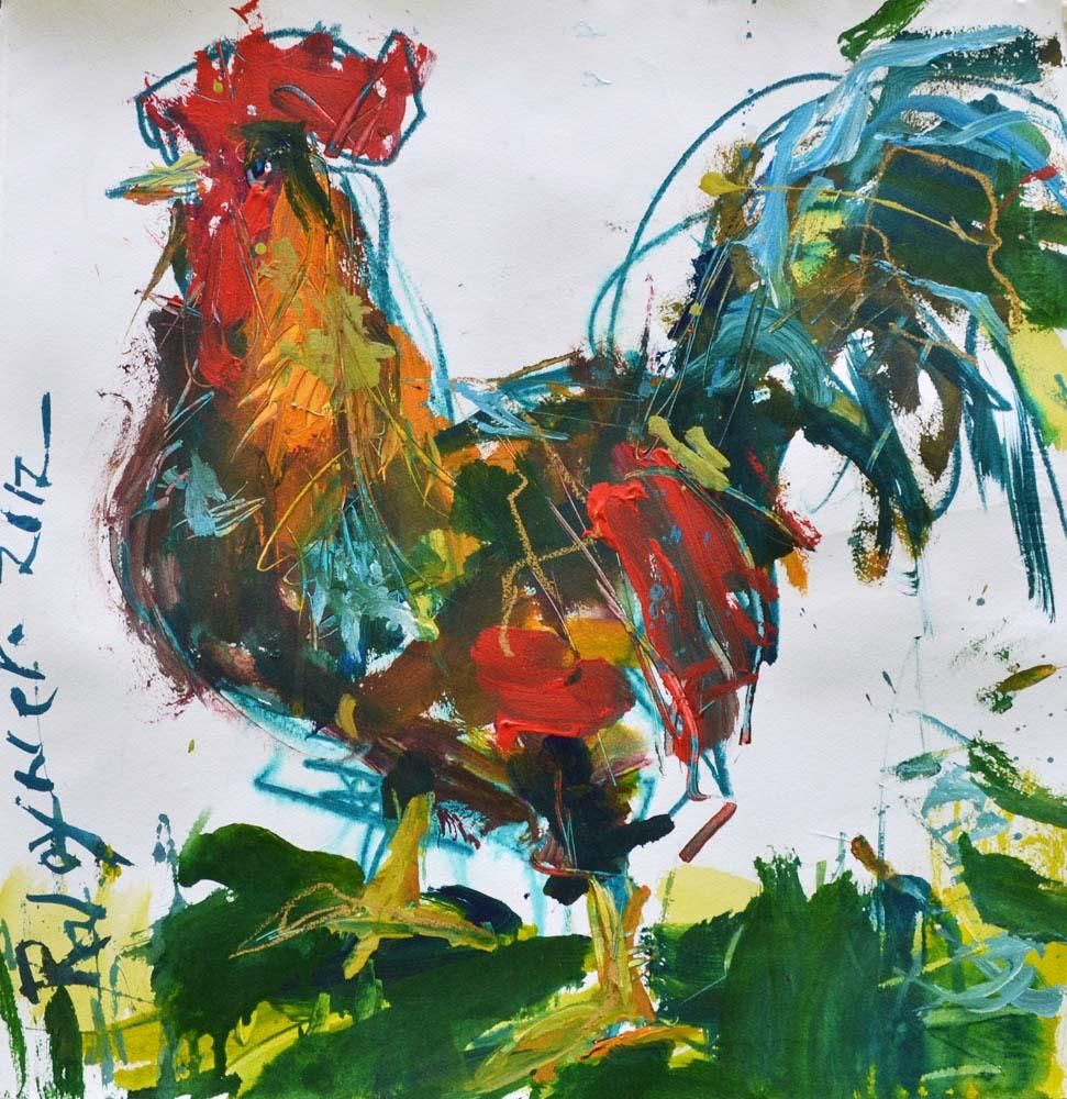 Rooster Painting Project - image 1 - student project