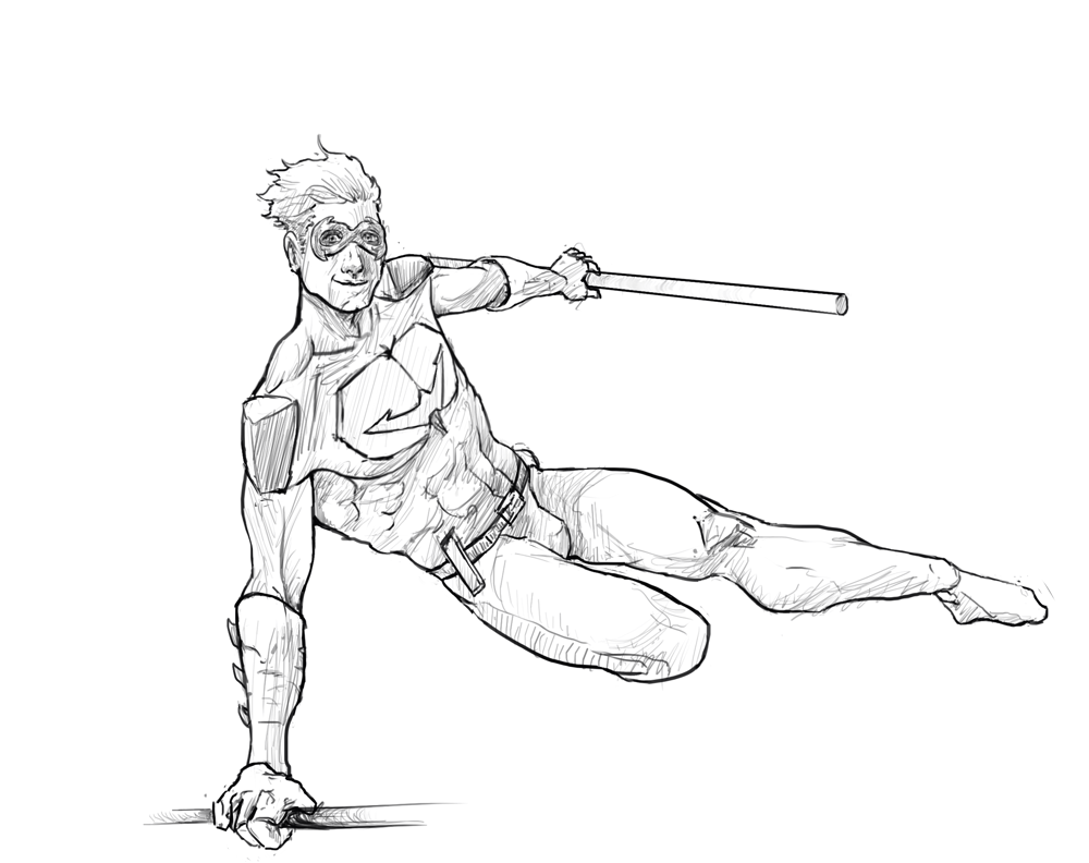 Nightwing sketch - image 1 - student project