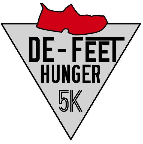 De-Feet Hunger 5k Charity Run Logo - image 5 - student project