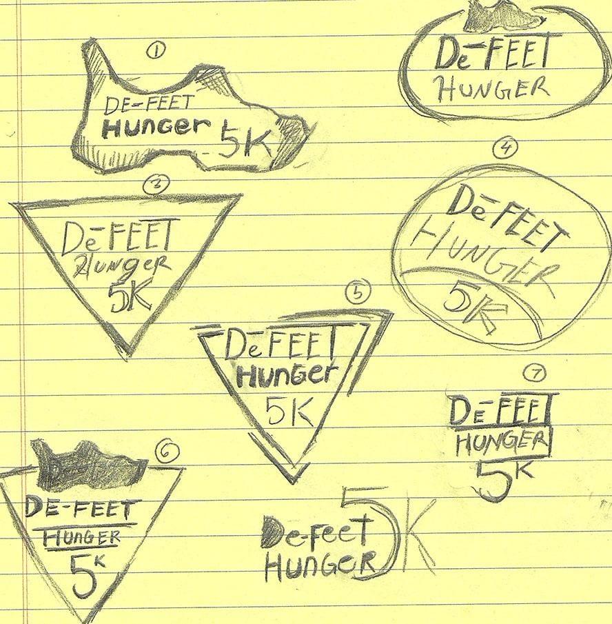 De-Feet Hunger 5k Charity Run Logo - image 1 - student project